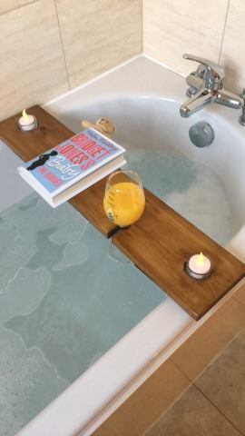 Hand made wooden Bath Tray