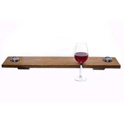 Bath Tray - Wooden - Single Glass
