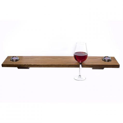Bath Tray - Wooden - Single Glass