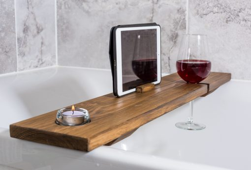 iPad Bath Tray and Wine Glass